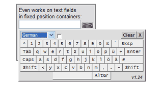Virtual Keyboard Interface